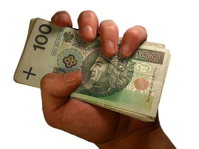 ręka z pieniędzmi